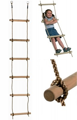 Rope Ladder with 6 Rungs 2 m long