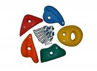 Climbing stones medium colored assorted set of 5