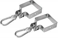 Set of 2 swing hooks 90 x 90mm galvanized