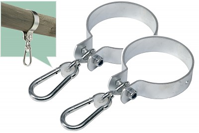 Set of 2 swing hooks 120mm galvanized