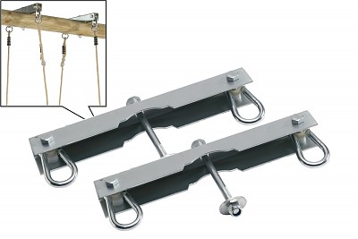 Set of 2 hooks for double seat swings