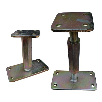 Height-adjustable post base, type P, extra stable