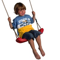 Plastic Molded Swing Seat Red