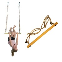 Wooden trapeze for swing or play tower