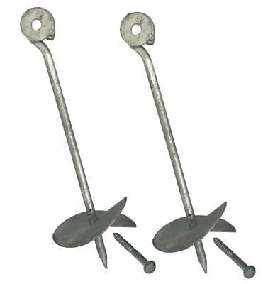 Set of 2 ground anchors - 30cm