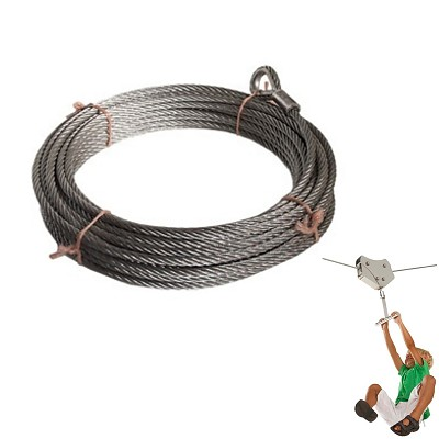 Suspension cable 25 m diam. 10 mm galvanized
