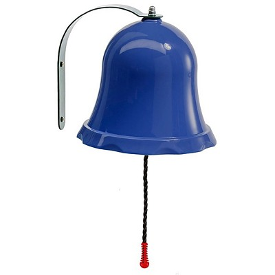 Ship bell Bell for play tower or playhouse blue