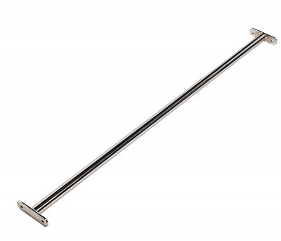 Horizontal bar with mounting plate made of stainless steel 1200mm