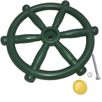 Steering wheel for play tower green Steering wheel ship driver pirate ship tree house