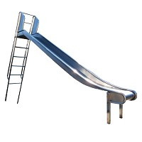 Stainless Steel Slide with Ladder 2m