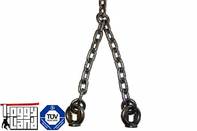 Stainless steel chain 5mm 1.8 m length with attachment eyes swing chain swing