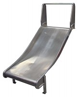 Add-on slide, stainless steel slide, hill slide 100cm wide