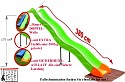 Hillside slide - wave slide - length 3,80m