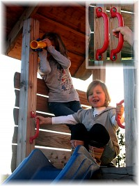 Weatherproof handles for playground structures