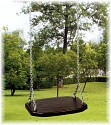 Rubber Swing Seat with Chains - extra wide