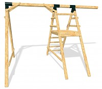 LoggyLand basic structure for the ULTIMATE playground set Height: 2.10m