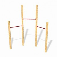 GYM III playground set - 3 stretching poles