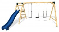 Playground Set - 3 Swings with Slide MAXIMUM