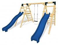 Playground Set SPEED - 2 Slides with a Swing
